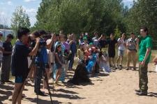 Сегодня на пляже «Нижнее Заречье» завершился первый экологический сплав по Казанке