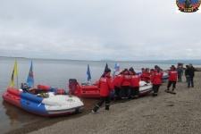 """Экспедиция """"Полюс холода соединяет океаны"""" в Охотске. Фото предоставлено Россоюзспасом"""