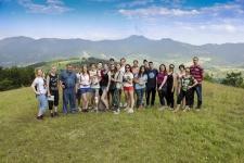 На высоте 1000 м в районе деревне Блажево