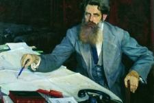Михаил Нестеров. Портрет О.Ю.Шмидта. 1937