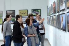 Открытие фотовыставки. Фото предоставлено Курганским отделением РГО.