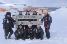 Команда регионального отделения во время экспедиции в Антарктиду