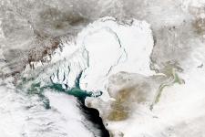 Космоснимок Северного Каспия