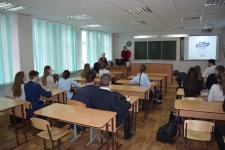 На заседании школьного лектория Молодежного клуба РГО при Оренбургском региональном отделении