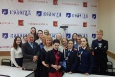 Участники видеоконференции в Вологде