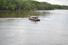 Первый речной трамвайчик в Оренбурге