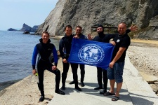Участники подводной экспедиции в Судаке (Фото предоставлено А. Раевским)
