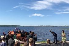 Спуск нового судна на воду