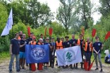 Участники экологического сплава