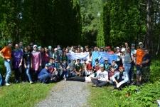 Участники волонтерского марафона в Татарстане