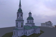 3D model of the manor of the Church of the Transfiguration of the Lord in the village of Ilovna. Granted by the participants of the expedition.