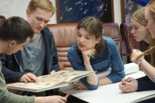 Meeting of the Youth Intellectual Club of the Russian Geographical Society. Photo by the press-service of the Russian Geographical Society