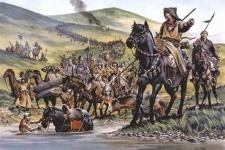 Войско золотой орды в походе