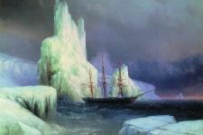 Художник И. Айвазовский. Ледяные горы в Антарктиде