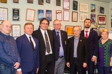 Участники российско-норвежской встречи 23 февраля 2018 в Мурманске