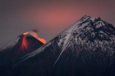 Eruption of Klyuchevskaya Sopka. Photo by: Vladimir Voychuk, a finalist of the III Photo Contest
