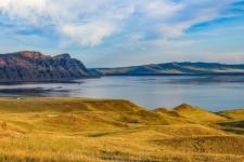 Sayano-Shushenskoye reservoir. Photo by Svetlana Guzeeva