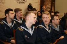 Students of Marine and River Fleet State University named after Admiral S.O. Makarov. Photo: Tatyana Nikolaeva