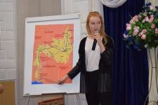 Учащаяся Лицея №5 рассказывает о географии бассейна Урала
