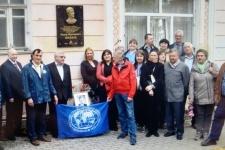 На открытии мемориальной доски в г. Воронеже собрались ученики Ф.Н. Милькова с разных городов России