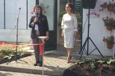 Надежда Максутова, председатель ВРО РГО, на открытии Музея орхидей