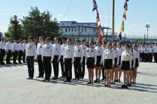 Плац-парад в Волго-Каспийском колледже