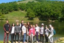 Школьники на экологической станции «Андреевская застава»