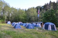 Завершение строительства палаточного археологического центра в г.Плес