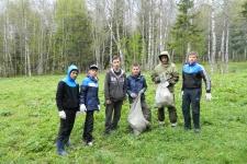 Участники экологической акции. Фото предоставлено Молодежным клубом Курганского отделения РГО.