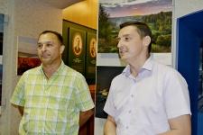 Александр Капитанов и Олег Буцкий на открытии выставки