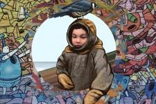 "Эскиз граффити ""Маленький варг"" по мотивам фотографии Александра Романова"