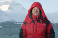 """Валдис Пельш. Кадр из фильма """"Ген высоты, или как пройти на Эверест"""""""