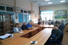 На заседании секции. Фото предоставлено Курганским отделением РГО.