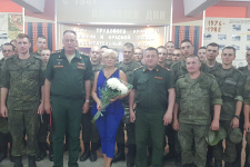 Встреча со служащими Министерства обороны РФ  . Фото: С.А. Соткина