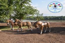 Реконструкция ископаемой фауны в парке у памятника природы «Гусиный перелет» (г. Павлодар)