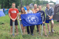 Team of volunteers. Photo: Sharya local branch of the Russian Geographical Society