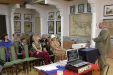 член РГО А.М. Лосунов выступает перед участниками встречи