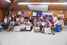 Тёплая встреча в Нанвалеке (Аляска, США)