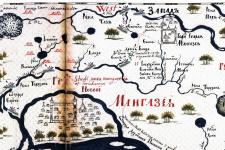 Карта Мангазеи