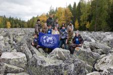 Участники экспедиции по Уралу. Фото предоставлено Курганским отделением РГО.