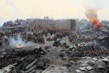 """Франц Рубо. Панорама """"Оборона Севастополя"""". Изображение: wikipedia.org"""