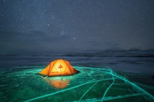 Лед озера Байкал
