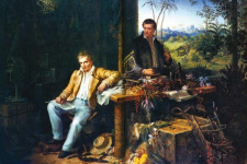 Гумбольдт и Бонплан в амазонских джунглях. Эдуард Эндер, 1850 г. wikipedia.org