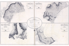 "Залив Ялта, залив Алушта, Балаклавская бухта, залив Феодосия. Карта из ""Атласа Чёрного моря"" с Геопортала РГО"