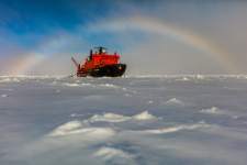 Радуга на Северном полюсе. Фото: Николай Гернет