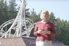 Светлана Минюрова на границе Европы и Азии