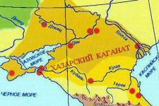 Карта памятников Хазарии