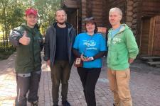 Участники акции. Фото предоставлено Курганским отделением РГО.