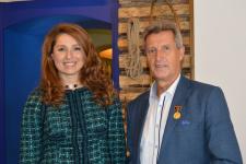 Юлия Рокотянская и Михаил Малахов после церемонии награждения