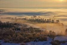 Туманное утро над Камой. Фото: Алексей Баринов